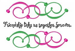 Friendship Links embroidery design
