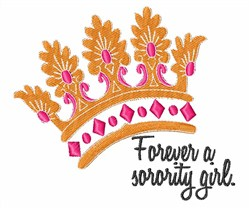 Sorority Girl embroidery design