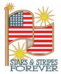 Stars & Stripes Forever embroidery design