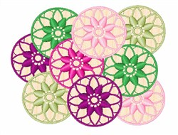 Summer Kaleidoscope embroidery design