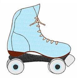 Blue Rollerskate embroidery design