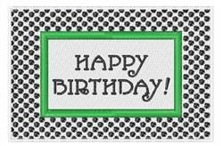 Happy Birthday Frame embroidery design