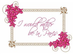 Rather Be In Paris embroidery design