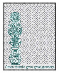 Great Greenery embroidery design