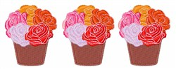 Potted Flowers embroidery design