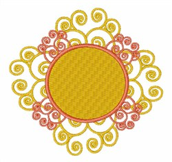 Sun Swirl embroidery design