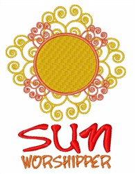 Sun Worshipper embroidery design