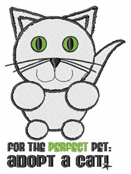 Adopt a Cat embroidery design