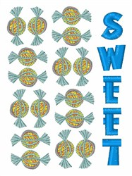 Sweet Candy embroidery design