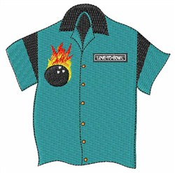 Bowling Shirt embroidery design