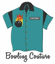 Bowling Couture embroidery design