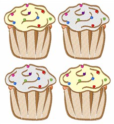 Cupcakes With Sprinkles embroidery design