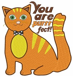 You Are Purrrfect embroidery design