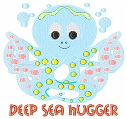 Deep Sea Hugger embroidery design
