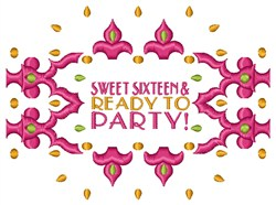 Ready to Party embroidery design