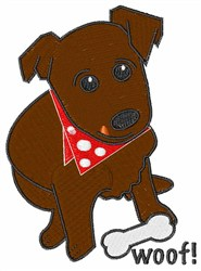 Woof embroidery design