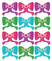 Ribbons & Bows embroidery design