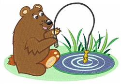 Fishing Bear embroidery design