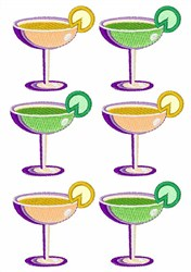 Cocktail Glasses embroidery design