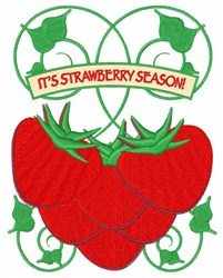 Strawberry Season embroidery design