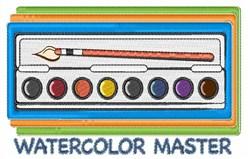 Watercolor Master embroidery design