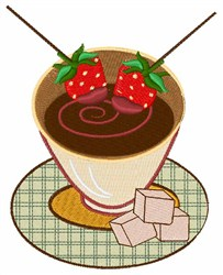 Chocolate Fondue embroidery design