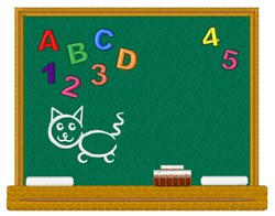 School Chalkboard embroidery design