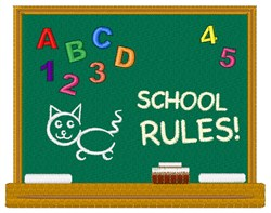 School Rules embroidery design
