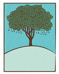 Tree On a Hill embroidery design