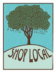 Shop Local embroidery design