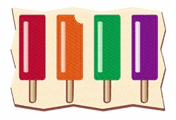 Flavored Popsicles embroidery design