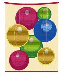 Round Lanterns embroidery design