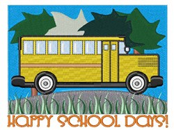 Happy School Days embroidery design