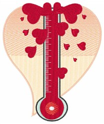 Hot Thermometer embroidery design