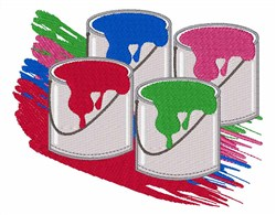 Open Paint Cans embroidery design