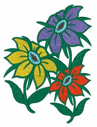 Bright Flowers embroidery design