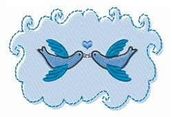 Blue Love Doves embroidery design