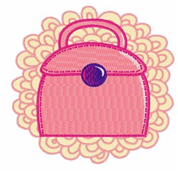 Pink Purse embroidery design