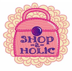 Shop-a-Holic embroidery design