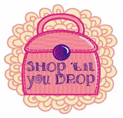 Shop til You Drop embroidery design