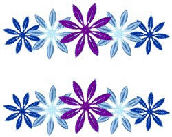 Colorful Snowflakes embroidery design