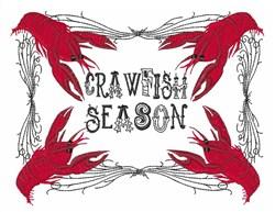 Crawfish Season embroidery design