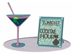 Cocktail Hour embroidery design