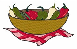 Bowl of Peppers embroidery design