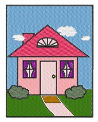 Framed House embroidery design