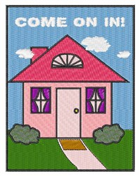 Come On In embroidery design