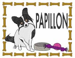 Papillon embroidery design