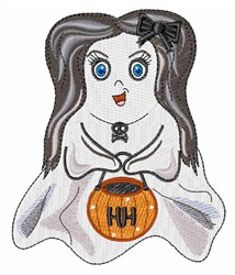 Girl Ghost embroidery design