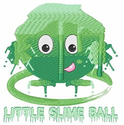 Little Slime Ball embroidery design