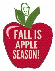 Fall is Apple Season embroidery design